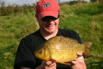 A new pb Crucian - 3lb 8oz