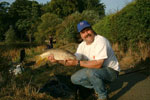 Mick Ball with his 1st Carp